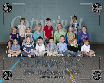 14006 St. Mary ELC class group portraits